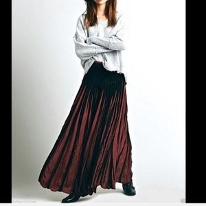 🌟NEW🌟 Free People Ribbon Rows Maxi Skirt